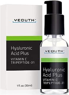 YEOUTH El mejor suero de vitamina C antienvejecimiento con ácido hialurónico y tripéptido 31 supera a todos los demás.