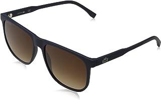 LACOSTE EYEWEAR Men's Sunglasses Rectangular LA PIQUE MATTE BLUE