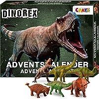 CRAZE Adventskalender 2020 DINOREX Dino Spielfiguren Dinosaurier Figuren Kinder Spielzeugkalender für Jungen 28186