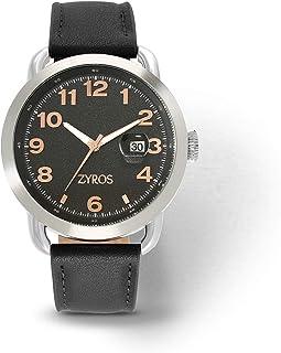 Zyros Watch for Men, Analog, Leather - ZAL040M110202
