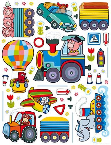 AG Design Sticker Mural Train k1046 Sticker Mural, polymère Film Multicolore 65 x 0,02 x 85 cm