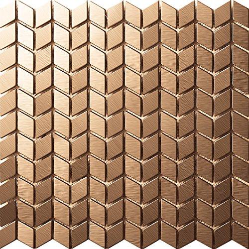 STILE MODERNO Art Deco metallo mosaico acciaio inossidabile Mosaico modello muro 300*300mm--Cucina Backsplash/Parete da bagno/decorazione domestica(SA018)