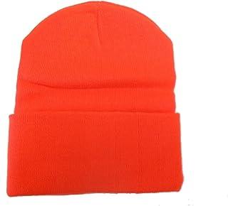 Hunter Orange Long Beanie / Knit Ski Hat / Warm In Winter!