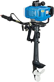 NICECHOOSE HANGKAI Outboard Motor, 2 Stroke 3.5HP/6HP/18HP Heavy Duty Outboard Motor Inflatable Fishing Boat Engine with Air/Water Cooling System - US Shipping