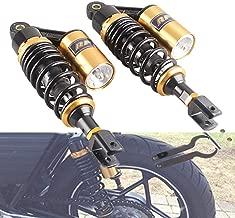 Soomee 280mm Pair Rear Motorcycle Air Shock Absorbers Suspension Eye to Clevis Universal Compatible for Kawasaki Honda Yamaha Suzuki Black & Gold(Black & Golden)