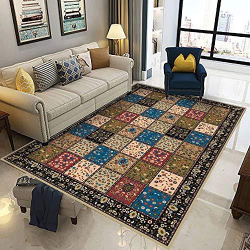 Teppich Thin Polyester Bereich Teppich Bodenmatte mit rutschfestem Schutzträger for Entryway Schlafzimmer Wohnzimmer Sofa Bettvorleger Klassische Wohnkultur Bereich Teppich Wohn-Esszimmer Teppich