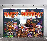 Five Nights at Freddys Backdrop Birthday Party Decorations Party Supplies for Kids Photo Background Cake Table Studio Props Photo Background 7x5Ft