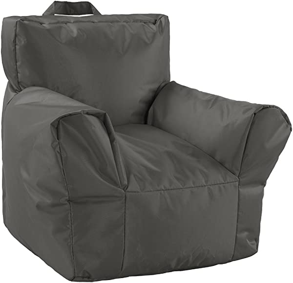 Divano Roma 18 Inch Nylon Waterproof Kid S Small Bean Bag Chair Grey