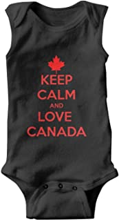 Canada-Maple-Leaf-icon-Simple Baby Onesies Sleeveless Natural Organic Bodysuits Cotton 100% for Toddler