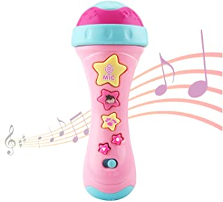 Sponsored Ad - Alyoen Kids Microphone with Long-Recoding & Voice Change Function, Music Karaoke Toys with Singing Along fo...