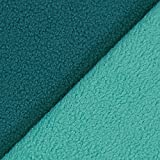 Fabulous Fabrics Fleece mintgrün, Uni, 145cm breit –