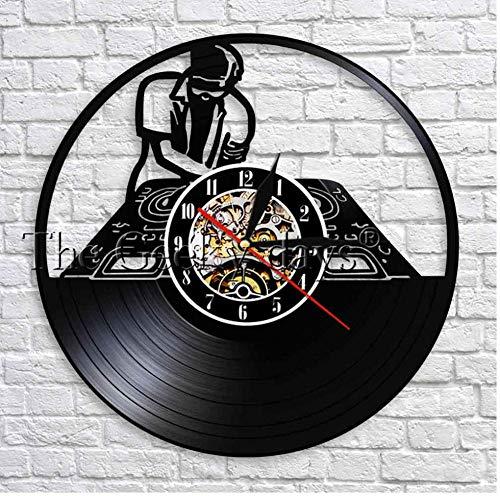 Yang Jingkai DJ platenspeler wandklok ontwerp hip hop muziek vinyl wandklok wandklok wanddecoratie voor Discotec beste cadeau No Led