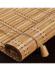 X1NGFU Store Enrouleur Bambou Naturel,Store Occultant en Bambou Exterieur,Stores À Rouleaux Romains,75% Protection Solaire Intimité Écran,Respirant/écologique/Naturel,Personnalisable