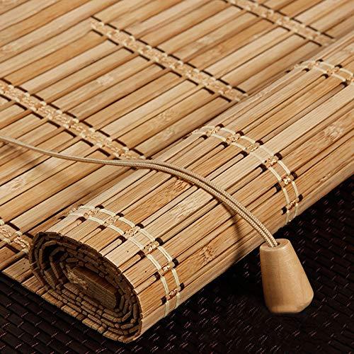 Store Enrouleur Bambou Naturel,Store Occultant En Bambou Exterieur,Stores À Rouleaux Romains,75% Protection Solaire Intimité Écran,Respirant/écologique/Naturel,Personnalisable (60x120cm/24x47in)