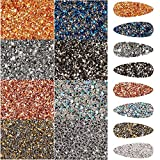11520 Pcs Nail Art Rhinestones Nail Drill Ultra Mini Micro Nail Diamonds Gems Glitter Tiny Diamond Glass Sand Micro Rhinestones Crystal Nail Art Decoration for DIY Design Manicure Supplies