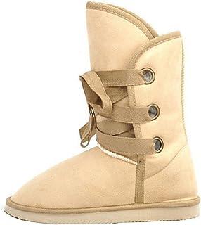 Gaorui Women's Winter Warm Diamond Flower Fur Ankle Snow Boots Fashion Comfort Flat Shoes