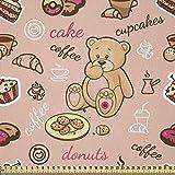 ABAKUHAUS Dessert Stoff als Meterware, Cupcakes Kekse
