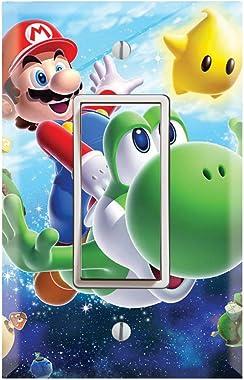 Single Rocker Wall Switch/Outlet Cover Plate Decor Wallplate - Super Mario Galaxy Yoshi