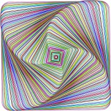 Bgraamiens Puzzle-Twisted 3D Colorful squares-1000 Pieces Square Puzzle Color Challenge Jigsaw Puzzles for Adults and Kids