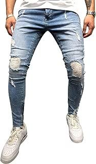 BMEIG Jeans Strappati Uomo Slim Fit Biker in Denim Distrutto Skinny Distressed Design Classico Buco Rotto Pantaloni Hiphop Lavoro Autunno Inverno M-3XL