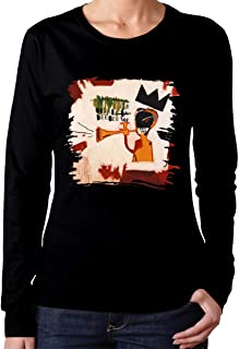 Jean-Michel Basquiat Cotton Womens T Shirt Long Sleeve Unique Women T Shirts Short Sleeve Black
