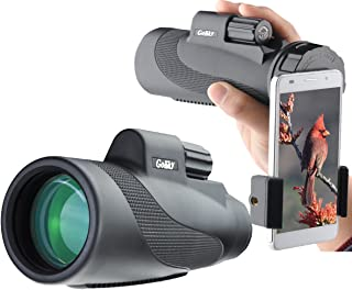 Gosky Titan 12X50 High Power Prism Monocular and Quick Smartphone Holder - Waterproof Fog- Proof Shockproof Scope -BAK4 Prism FMC for Bird Watching Hunting Camping Travelling Wildlife Secenery