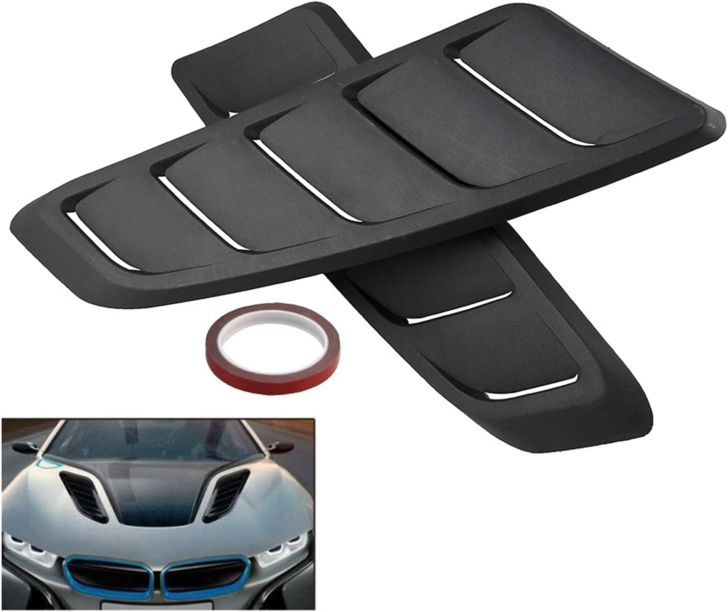 Car Exterior Louver Intake Vent F Universal Max 80% OFF Virginia Beach Mall Cover Air Scoops
