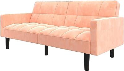 Amazon.com: Baxton Studio 3-Seater Sofa in Walnut and Dark ...