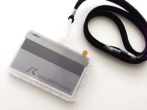 IC社員証用 干渉防止IDカードホルダー(スロットイン方式 セパレーター付) 2枚収納タイプ・ハードケース&ストラップ