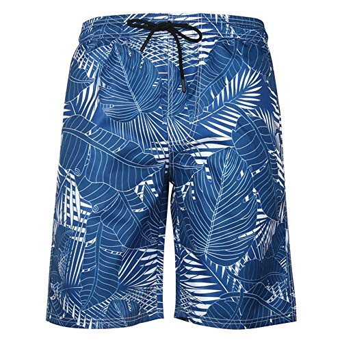 Sneldrogende Zwembroek for mannen Fashion Print Straight Tube Losse Shorts Casual Surfing Beach Shorts (Color : H, Size : XXXXL)