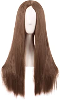 MapofBeauty 28 Inch/70cm Women Special Natural Long Straight Synthetic Wig (Light Brown)
