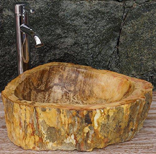 Guru-Shop Lavabo top in Marmo Massiccio, Lavabo, Lavabo, Lavabo in Pietra Naturale - Modello 3, Marrone, 15x43x36 cm, Lavabi, Lavabi, Lavabi Vasche da Bagno