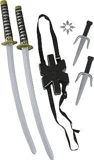 Fun World Unisex-Adult's Ninja Double Sword Set, Multi, Standard