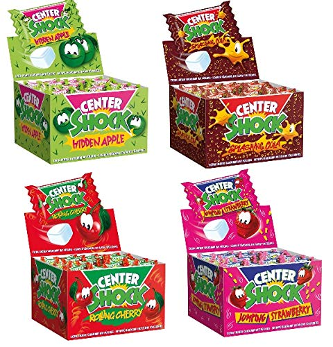 4 Boxen Center Shock Hidden Appel, Rolling Cherry, Splashing Cola,Jumping Strawberry a 400 g