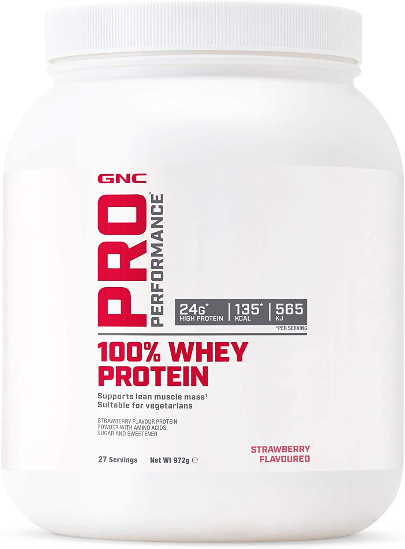 GNC Pro Performance 100% Whey Protein Powder - Chocolate, 14 porciones, apoya la masa muscular magra