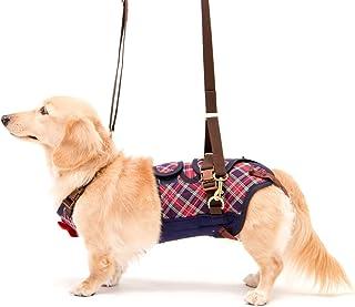 With(ウィズ) 歩行補助ハーネス LaLaWalk 小型犬・ダックス用 サポーターパッド付 チェックカーニバル M サイズ