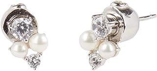 Carolee Women's Freshwater Pearl Cluster Stud Earring