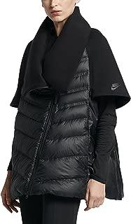 SPORTSWEAR TECH FLEECE AEROLOFT WOMEN'S DOWN CAPE Black Jacket (Large, Black/Black/Black)