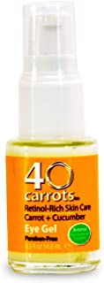 40 Carrots Carrot and Cucumber Eye Gel - Instantly De-ages and Wakes Up Tired Looking Eyes, Paraben Free (5 oz)