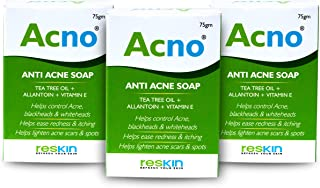 Acno Anti Acne & Pimple Fighting Soap for Normal to Oily Skin 75 gm  Tea Tree Oil   Vitamin E Extract   Allantoin ( Pack o...