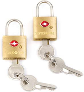 Samsonite Travel Sentry 2-pack Key Locks, Brass
