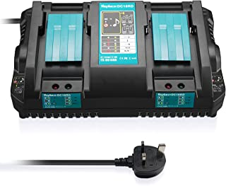 Sponsored Ad – Upgraded DC18RD Dual Ports Rapid Replacement Charger for Makita 14.4V-18V Lithium-Ion Battery BL1415 BL1430...