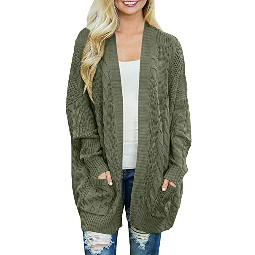 735e3ab5f52d8e For G and PL Women Open Front Long Sleeve Sweater Cardigan Coat with Pocket