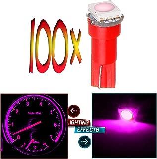 cciyu T5 70 74 73 1-5050SMD Instrument Gauge Dash Indicator LED Light Bulbs,100Pack(pink)