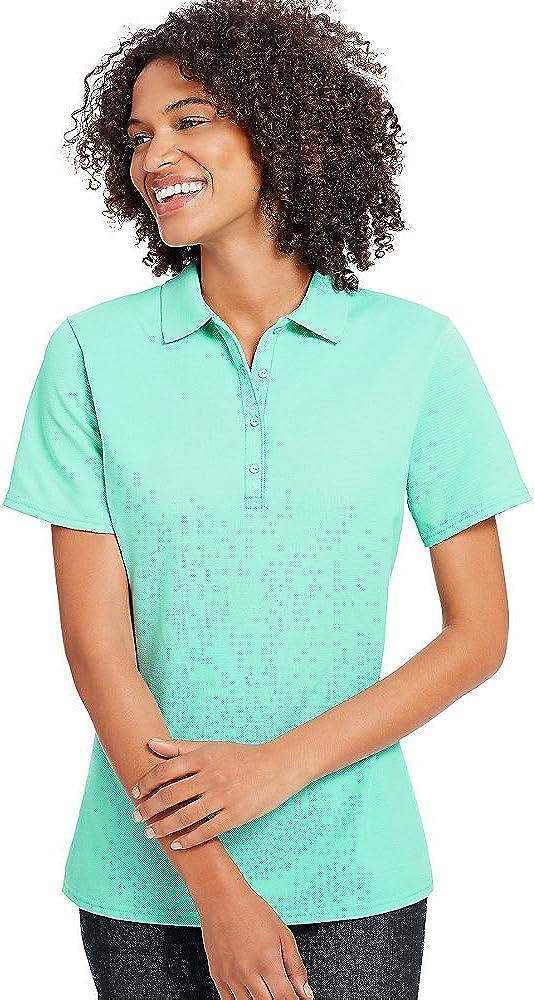 By Hanes X-Temp Women's Pique Polo Shirt_Clean Mint_L