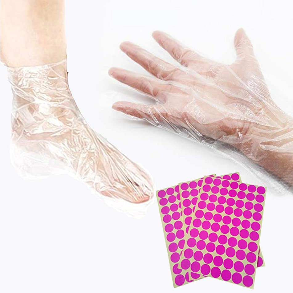 SZATS Paraffin Wax Bath Liners for Hands and Foot, 200 Pcs Plastic Paraffin Bath Mitt, Hand & Foot Bags for Paraffin Treatments and Paraffin Wax Machine