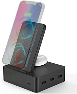 Wireless Charging Station for Multiple Devices—4 USB...