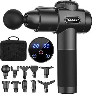 TOLOCO Massage Gun, Upgrade Percussion Muscle Massage Gun for Athletes, Handheld Deep Tissue Massager (Black)