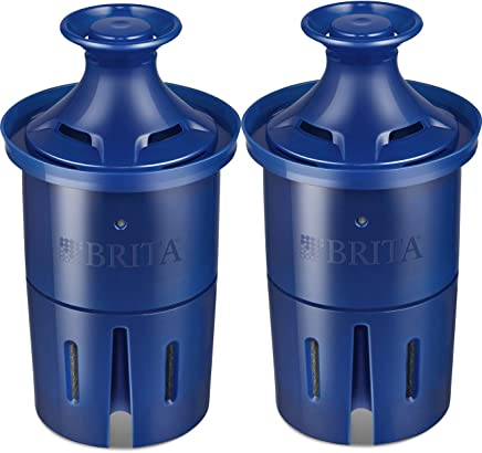Brita Longlast Water Filter, Longlast Replacement Filters for Pitcher and Dispensers, Reduces Lead, BPA Free - 2 Count