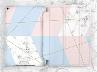 Blue Pink Geometric Marble Case For Apple iPad Mini 1 2 3 4 5 iPad Air 2 3 iPad Pro 9.7 10.5 11 12.9 inch iPad 9.7 inch 2017 2018 2019
